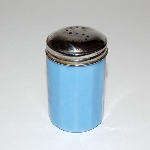 "JEANETTE Glass Delphite Blue 3"" Paneled Salt Shaker 12 Panels ~ EUC"
