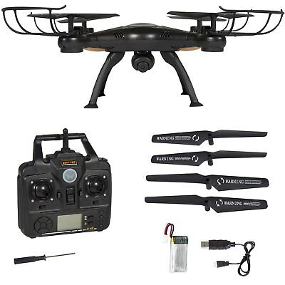 X5SW-1 Wifi FPV 2.4Ghz RC Quadcopter Drone with 2MP HD Camera RTF UAV Black dron