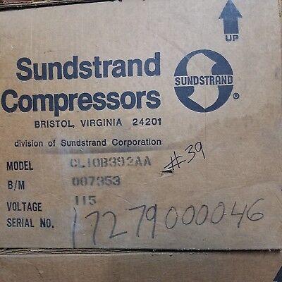 Bristol Sundstrand Cl10b392aa 115v 1 34hp Compressor Walk In Cooler Freezer