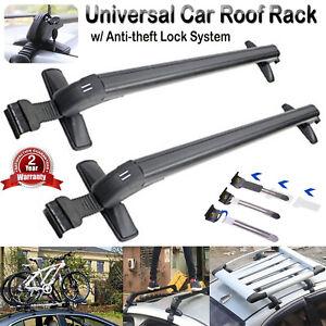 43'' Roof Rack Cross Bars Kayak Ski Snowboard Carrier for 4 or 5 Door Cars