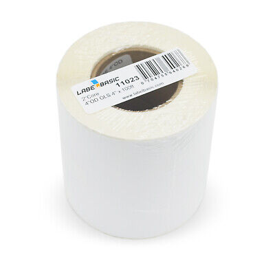 Labels For Primera Lx400 Printer 4 Continuous Label Rolls 100 Ft Glossy Blan...