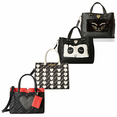 2 Piece Tote - Betsey Johnson 2 Piece Satchel Tote Bag With Pouch Purse Shoulder Handbag