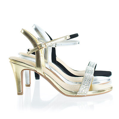 Grant Rhinestone Crystal High Heel Dress Sandal w Comfortable Foam Padding Comfortable High Heel Shoes