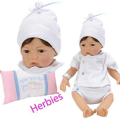 Lee Middleton Newborn Nursery Wee Wonder Tiny Love Brown Hair, Brown Eyes