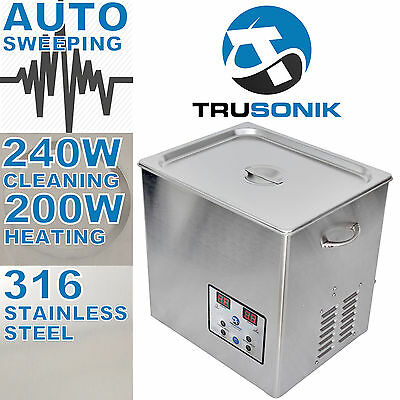 New Stainless Steel 10l Liter Industry Heated Ultrasonic Cleaner Heater Timer H