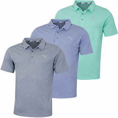 Puma Golf Mens Grill To Green DryCell Snap Button UPF40 Polo Shirt 53% OFF RRP