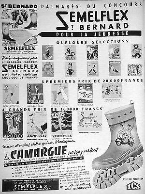 PUBLICITÉ SEMELFLEX CONCOURS ST BERNARD SCOOTERISTES CAMPEURS CHASSEURS