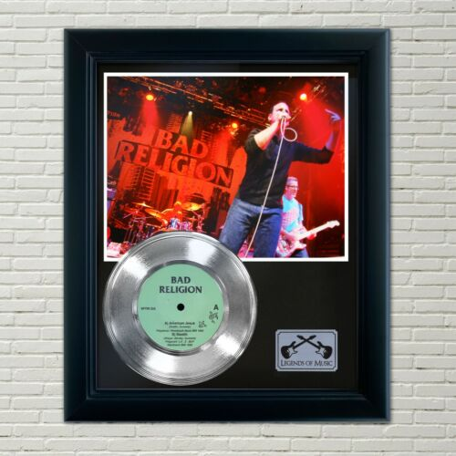 "Bad Religion ""American Jesus"" Framed 45 Silver Record Display"