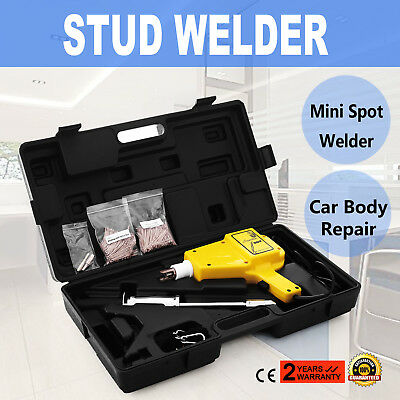 COMPLETE Auto Body DENT REPAIR KIT Electric STUD WELDER GUN w/ 2lb Puller Hammer
