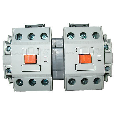 ELPRO CEM-40 Contactor Pair/Set, 3P 40A 230/400V 50-60Hz with interlocking