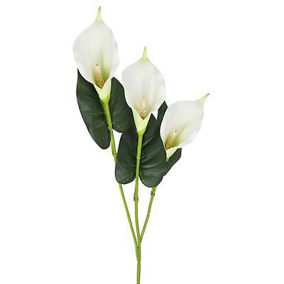 Three Head Foam Calla Lily Spray - Large Artificial Flowers Wedding Cala Lilly