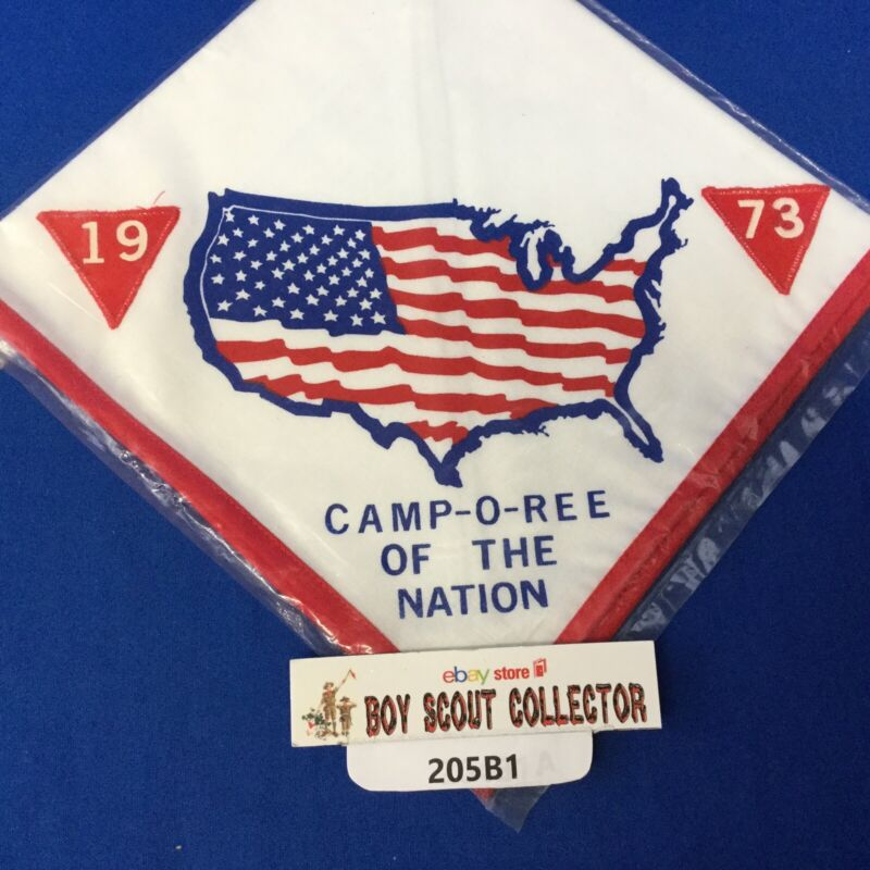 Boy Scout 1973 Camp-O-Ree Of The Nation Neckerchief