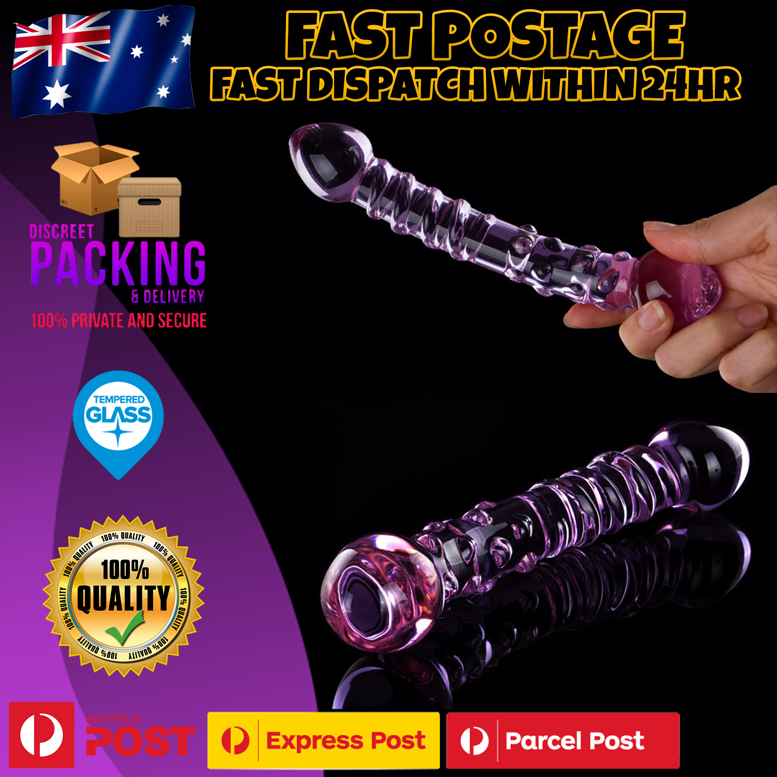 Details about Double Ended Glass Anal Butt Plug G-Spot Dildo Dong Anal  Beads Adult/Sex Toy NEW