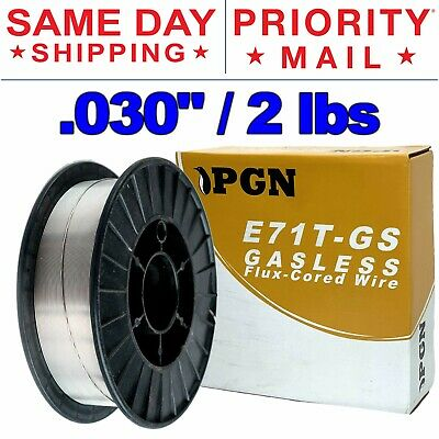 E71t-gs .030 0.8mm - Gasless Flux Core Mild Steel Mig Welding Wire 2 Lbs Spool