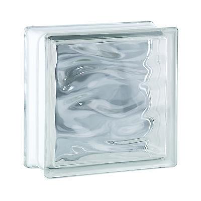 6 stuk glazen bouwsteen glasblok bouwglas Aqua transparent 19x19x8cm