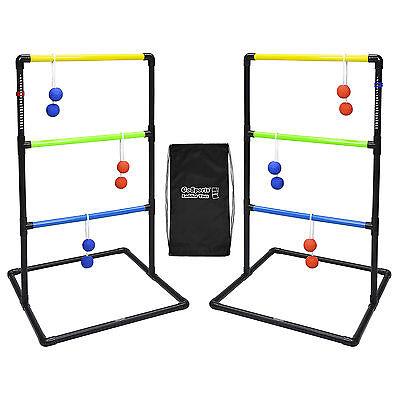 GoSports Ladder Golf Hillbilly Toss Yard Game Set, 6 Bolo Balls and Carry Case