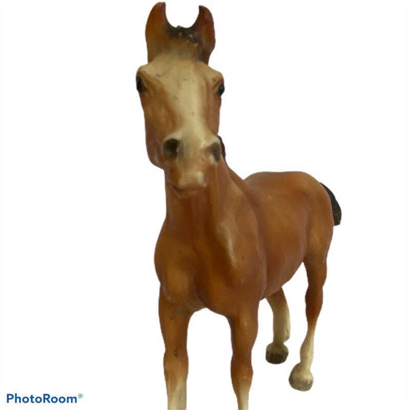 Vintage Breyer Horse #84 Clydesdale Foal Chestnut Brown Traditional Mold 1970-89