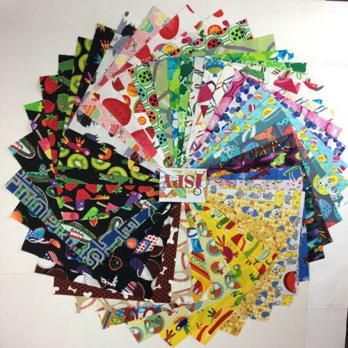 """I SPY  5"""" Squares Charm Pack Quilting Fabric -100% Cotton"""