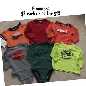 Boys 3/6 month clothing