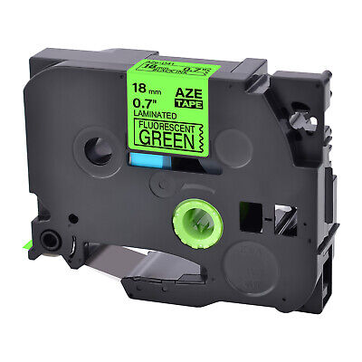 Tze-d41 Tz-d41 Black On Fluorescent Green Label Tape For Brother P-touch 34