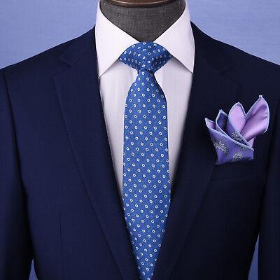 Blue Stylis Italian Pattern Necktie Business Formal Elegance For Smart Men's Ego - Formal Pattern Necktie