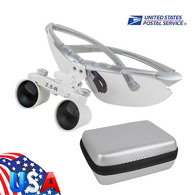 Us Light-weight Dental Surgical Medical Binocular Loupes 2.5x R360580mm Case