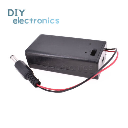 9V Volt PP3 Battery Holder Box DC Case With Wire Lead ON//OFF Switch Cover Ne DOL