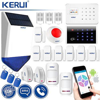 Remote Control Kerui G18 Gsm Sms Home Alarm System Solar Power Siren Keypad