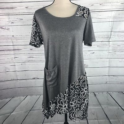 Aster By Firmiana Womens Tunic Top Size M One Pocket Lace Floral Detail New One Pocket Tunic