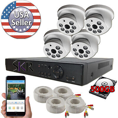 Sikker 4 ch channel DVR 1080P security camera system HDMI
