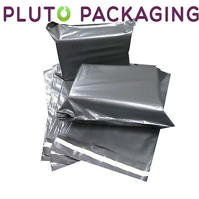 "25 BAGS - 12"" x 16"" STRONG POLY MAILING POSTAGE POSTAL QUALITY SELF SEAL GREY"