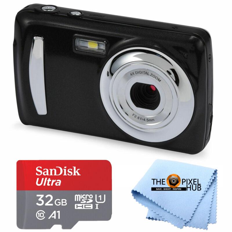 "Onn 18MP Kids Digital Camera 2.4"" Screen with 4x Digital Zoom + 32GB Bundle"