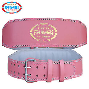 farabi weight lifting belt pink fitness back support