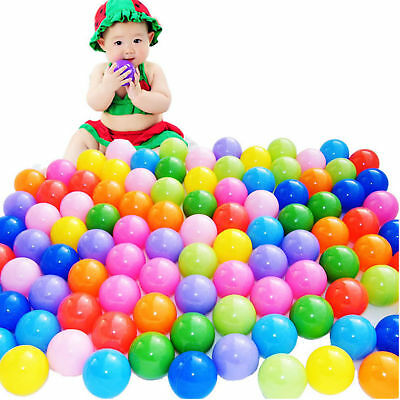 300 pc Colorful Ball Pit Balls Fun Ball Soft Plastic Cool Ocean Swim Toy game US