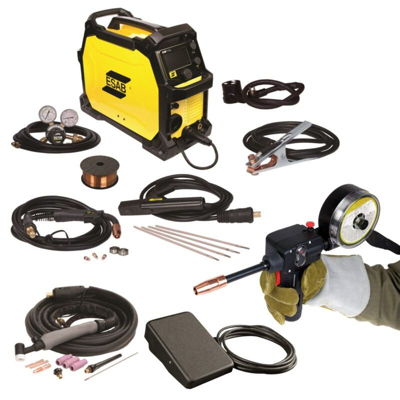 ESAB Rebel EMP 215ic Welder, Spoolgun and Foot Control (0558102240)
