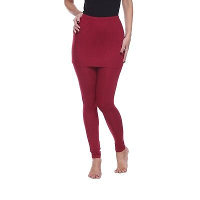 Women's Solid Color Skirt Leggings Super Soft Mid Rise Slim fit Plus Size - Skirts Leggings