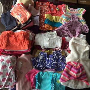 Girls' clothing lot size 3-6 months to 12-18 months