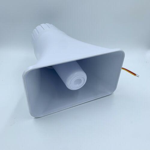 White Electronic Siren Two Tone 12V 30W