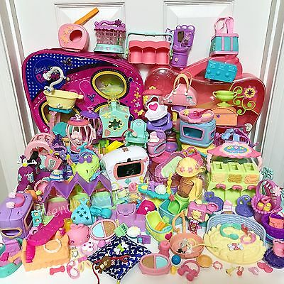 Littlest Pet Shop LOT - 12 Piece Random GRAB BAG of LPS ACCESSORIES & Gift Bag