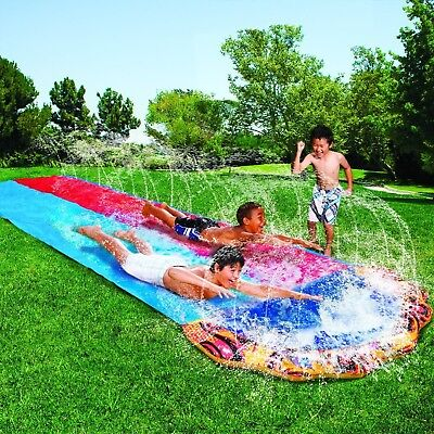 Water Slide Inflatable Slip N and Slide Dual Racer Kids Play 16 Ft Spray - Inflatable Slip N Slide