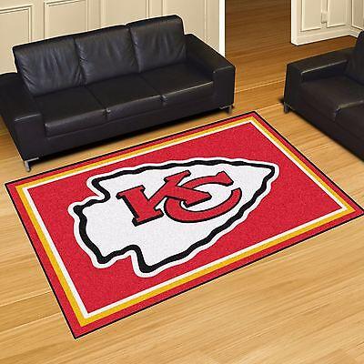 - Kansas City Chiefs 5' X 8' Decorative Ultra Plush Carpet Area Rug