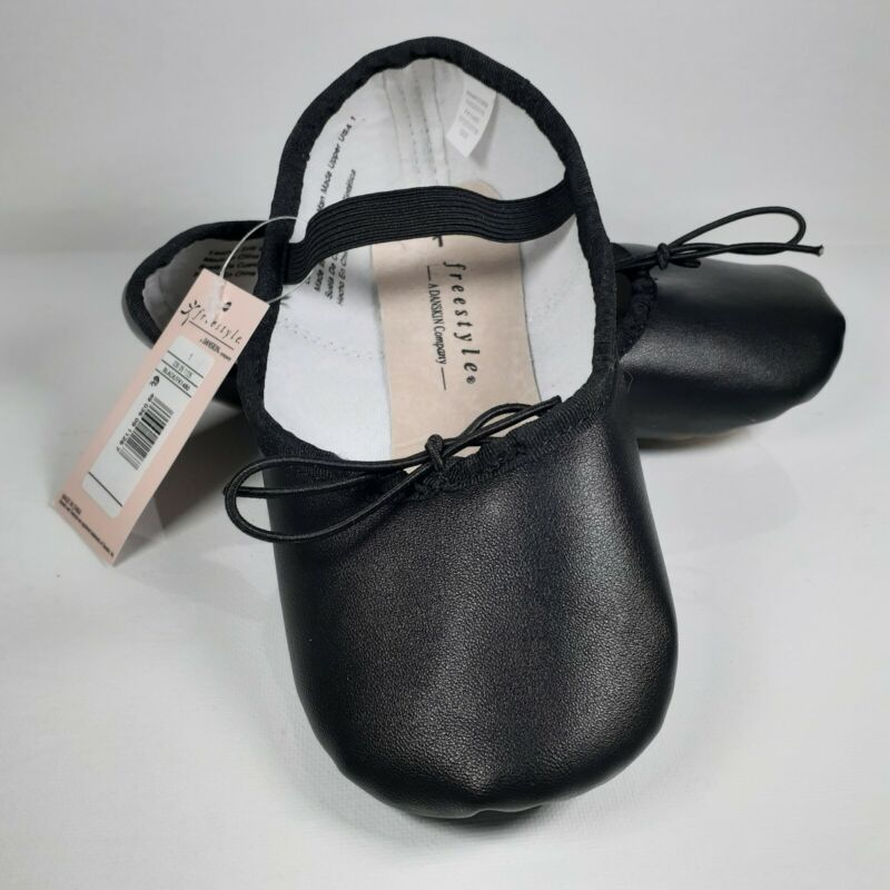 NWT Danskin Free style full Leather Sole Black BALLET SLIPPERS SHOES various