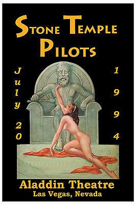 Stone Temple Pilots at Aladdin Theatre Las Vegas Nevada Concert Poster 1994