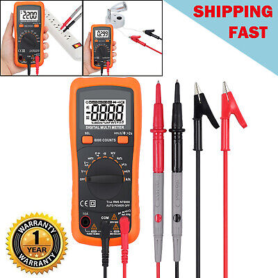 6000 Counts Trms Digital Multimeter Tester Ncv Detector Dcac Voltage Auto Range