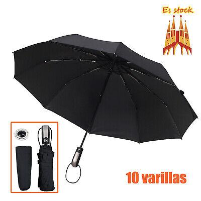 paraguas Reforzadas Apertura Automático 10Varillas con colgador cristal plegable