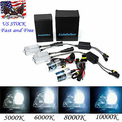 55W HID Headlight Bulbs Conversion Kit H11 All Colors Xenon Slim Ballasts Bright