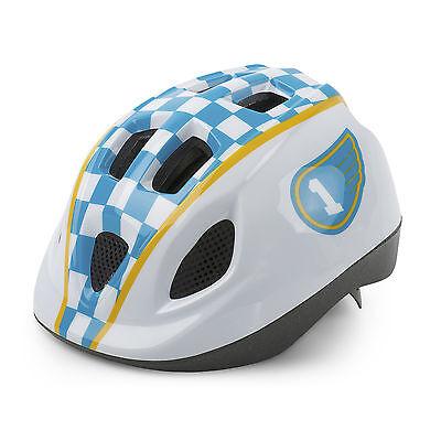 Casco de Ciclismo Antimosquitos para Niño Color Azul y Blanco de Bicicleta...