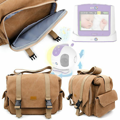 Used, Tan-Brown Large Sized Canvas Carry Bag for BT Video Baby Monitor 7500 Lightshow for sale  Jersey