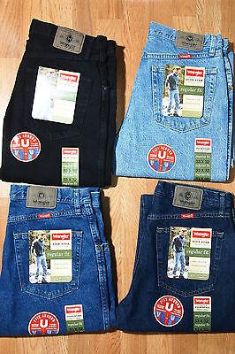 (Wrangler 100% Genuine Regular Fit Men's Jeans Heavy cotton - ONE PAIR)