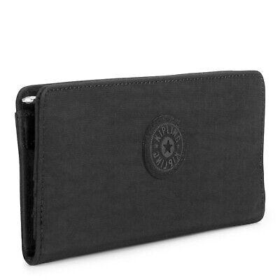 NWT Kipling Joanna Slim RFID Bifold Wallet Black Tonal $39